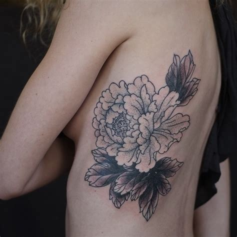 flower rib tattoos flower outlines rib best ideas gallery