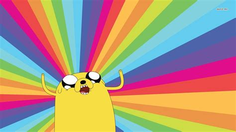 Adventure Time Jake And Finn Crayon Rainbow Iphone All Hp adventure time wallpaper and background image 1366x768 id 495155
