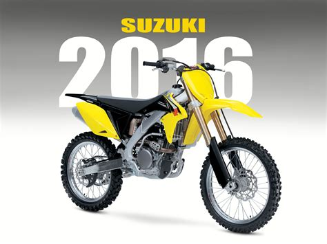suzuki motocross bikes suzuki announces 2016 off road bikes dirt bike magazine