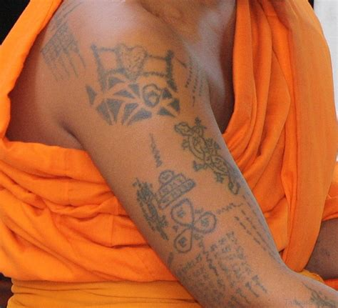 monk tattoo 20 simple buddha tattoos for shoulder