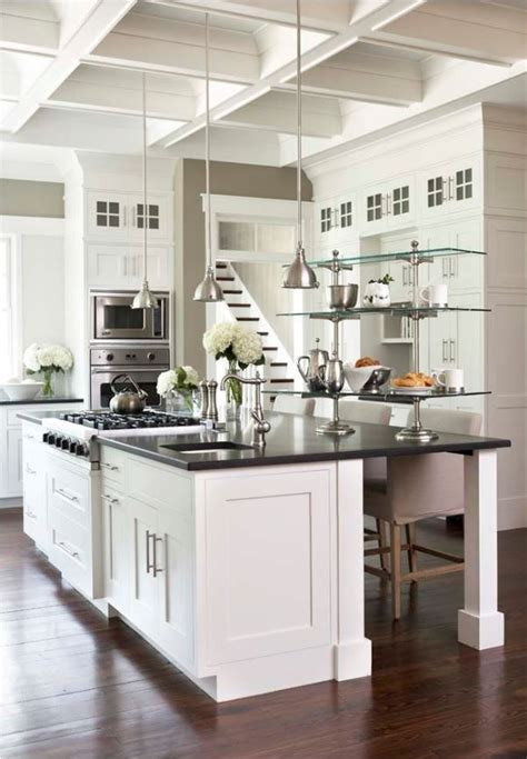 white kitchen black counter smaller doses of black in the kitchen centsational