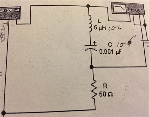 voltage across resistor in rlc circuit for the rlc circuit shown calculate the resonant chegg