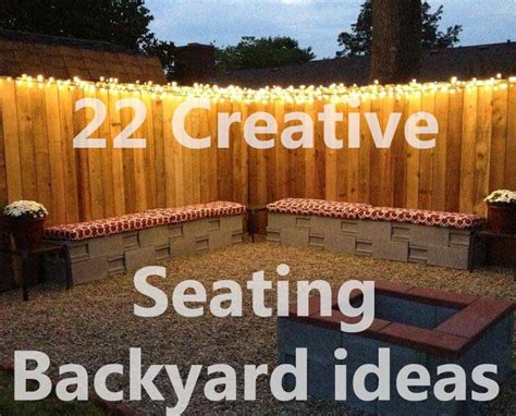 backyard seating ideas 22 creative backyard seating ideas creative ideas