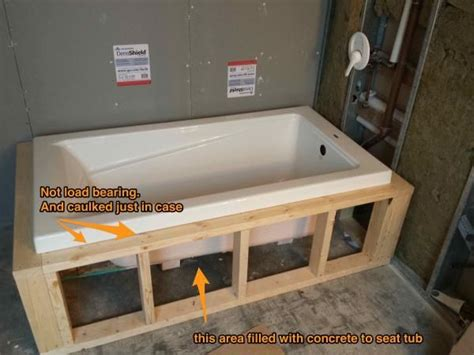 bathtub framing 25 best ideas about drop in tub on pinterest shower