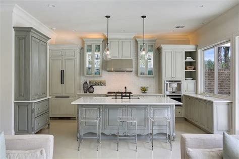 Grey Wash Kitchen Cabinets Gray Hutch And Sideboard Transitional Kitchen Maison De Reve Builders