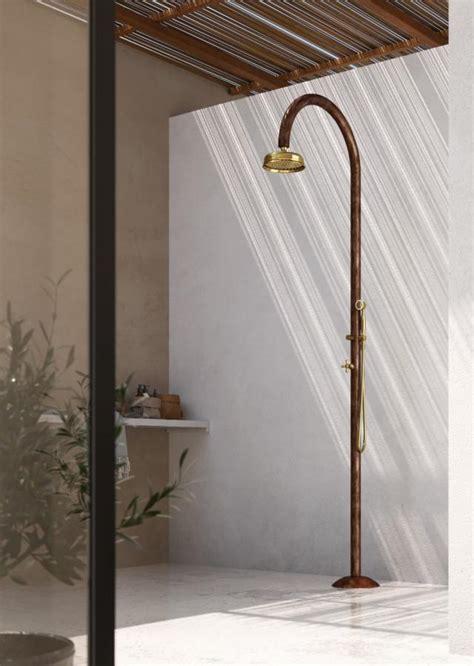 luxury copper outdoor shower floor mounted designer