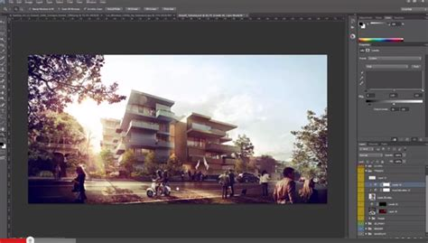 adobe photoshop rendering tutorial architectural rendering tutorial post production in