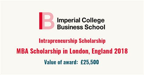 Imperial Mba Entry Requirements by Time Mba Scholarship At Imperial College Business