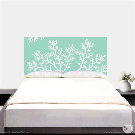 coral headboard coral branch headboard wall decal graphicsmesh