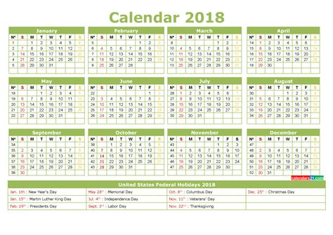 full year printable calendar   holidays    printable  monthly calendar