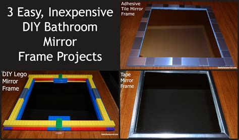 diy mirror frame bathroom three diy bathroom mirror frames family fun journal