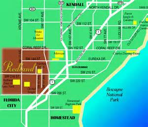 map of the redland florida in southeast florida
