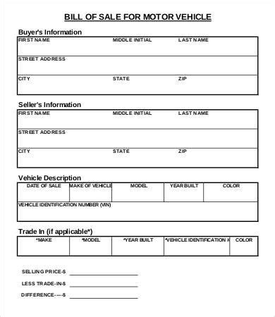 bill of sale form template printable bill of sale template 8 free pdf documents