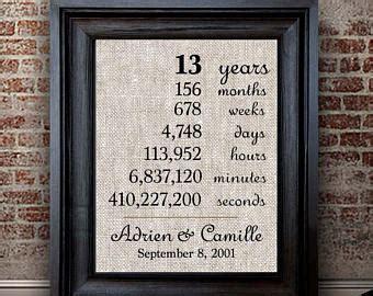 13th anniversary   Etsy
