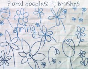 doodle flower photoshop brushes dead tree brushes nature photoshop brushes brushlovers