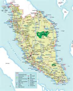 map of with towns maps of malaysia detailed map of malaysia in