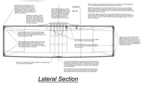 Lateral Section by Gs Guitar Plans