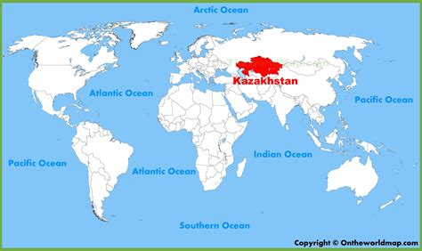 map world kazakhstan kazakhstan location on the world map