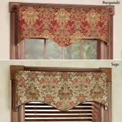 And Valance Como Tapestry Fabric Scalloped Window Valance
