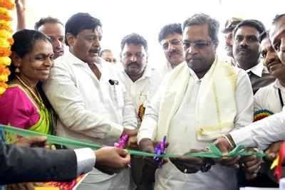 slew mode siddaramaiah in poll mode launches slew of projects in