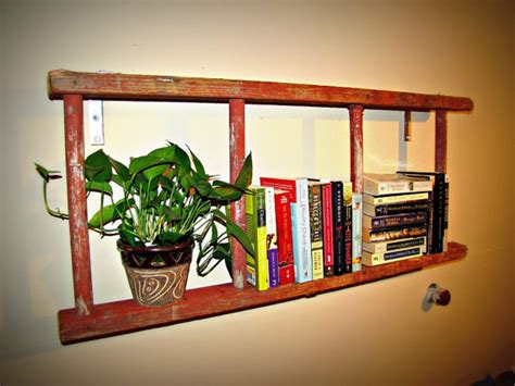 antique bookshelf ladder by naturally cre8tive