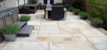 indian sandstone from spooners turf one of our patios