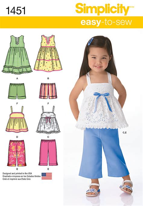 pattern review best patterns 2014 simplicity 1451 toddlers dresses top cropped pants and
