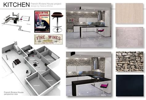 kitchen layout presentation presentation boards french riviera project classic