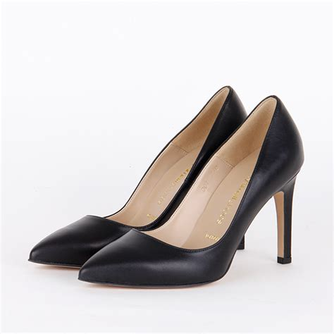 high heels for small black leather classic high heels tipo black by