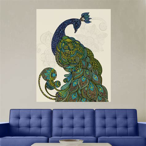 peacock wall stickers peacock wall sticker decal peacock by valentina small contemporary wall
