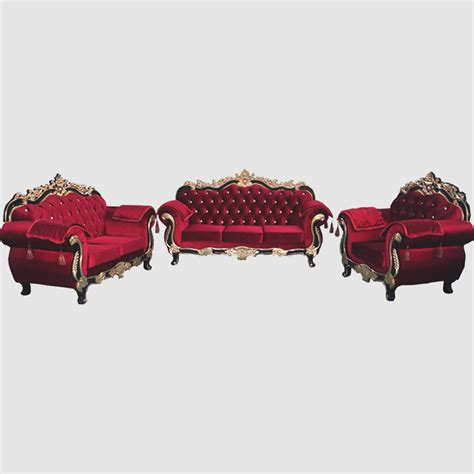 Modern Living Room Interior Design Ideas with Red Velvet Sofa Furniture ? iwemm7.com