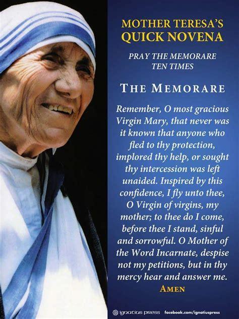 mother teresa quick biography mother teresa s quick novena or quot flying novena quot my