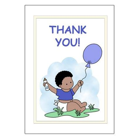 Thank You Letter Balloons Baby Shower Thank You Note Cards Boy With Balloons