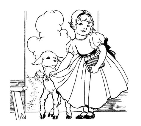 mary had a little lamb nursery rhyme coloring online hot