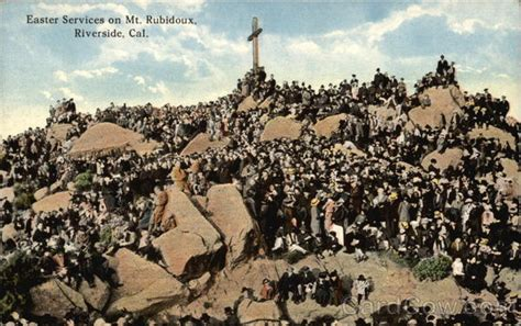 Rubidoux Post Office by Easter Services On Mt Rubidoux Riverside Ca