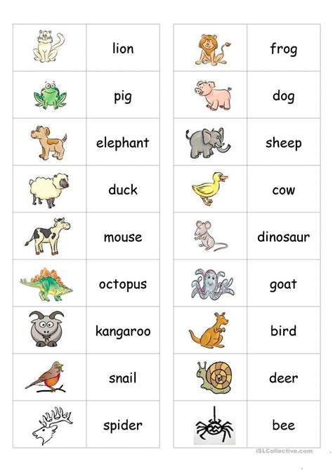 printable animal dominoes animal dominoes worksheet free esl printable worksheets