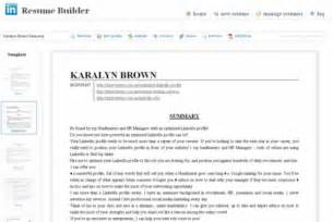 Resume Linkedin by Resume From Linkedin Resume Format Download Pdf
