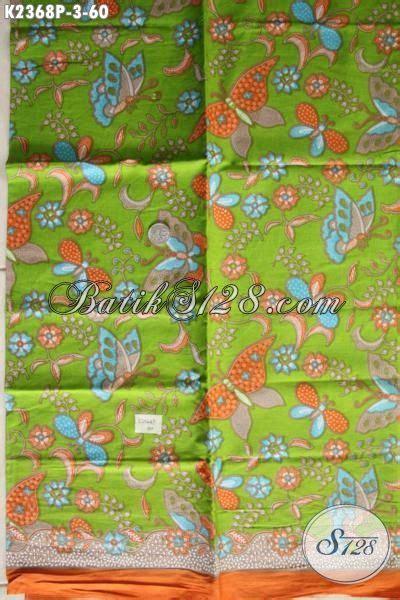 Batik Tulis Bakaran Hijau Pupus Motif Kupu kain batik terkini hadir dengan motif unik dengan