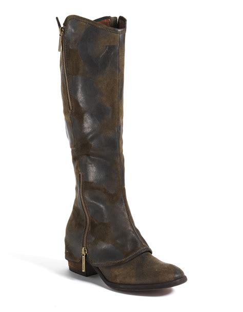 donald pliner boots donald j pliner vintage suede boots in brown olive suede