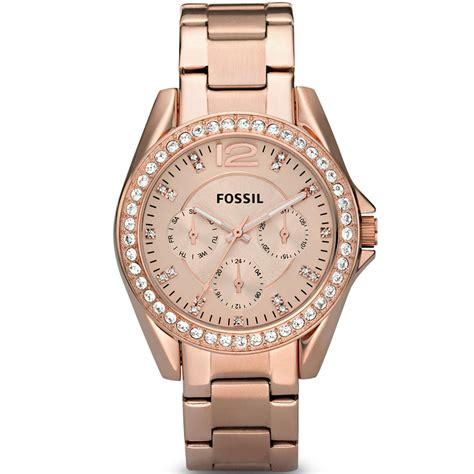 Fossil Kulit Rosegold fossil stainless steel gold tone