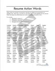resume action words and phrases example good resume