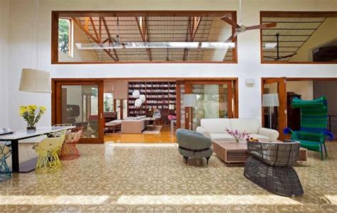 high roof house designs imposing library house in india evoking bangalore s colonial past freshome com