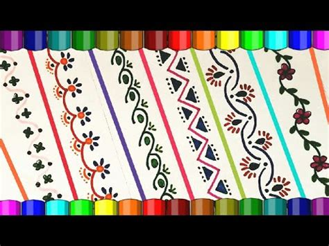 decorative designs on paper border designs project file border designs attractive