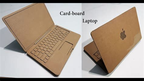 How To Make A Notebook Out Of Paper - how to make a laptop with cardboard apple laptop