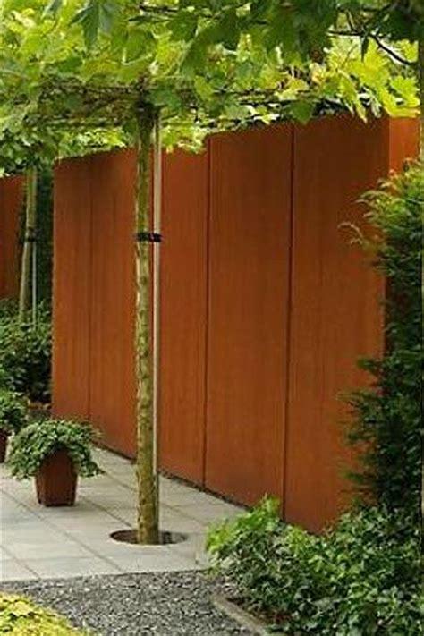 Planche De Bois Exterieur 3695 cl 244 ture de jardin mur en acier corten artiplant des