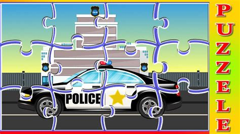 for kids police vs police car puzzle games for children cartoon cars for