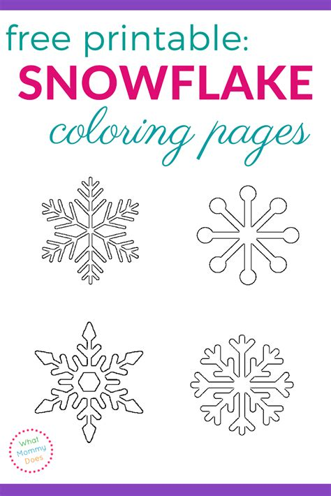 printable winter snowflakes free printable snowflake coloring pages what mommy does