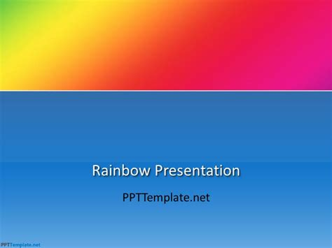 Free Rainbow Ppt Template Powerpoint Rainbow Template