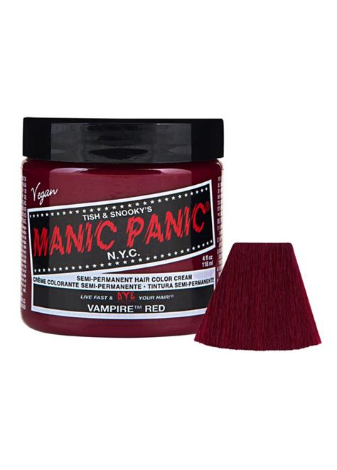 manic panic semi permanent vire red hair color cream manic panic vire red semi permanent hair dye attitude