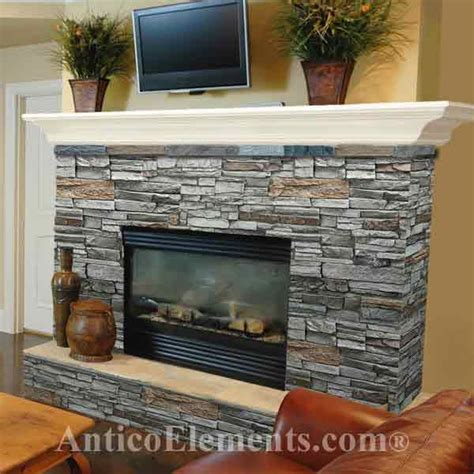 Fieldstone Fireplaces by Faux Stone Fireplace